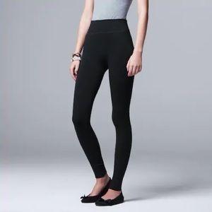 NWT SIMPLY VERA WANG Seamless Twill Black Leggings